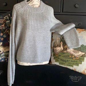 Banana Republic Women's Mock-neck Sweater Grey XL